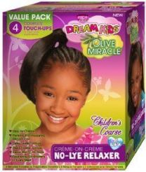 African Pride Dream Kids Relaxer Kit Coarse 4 Touch Up