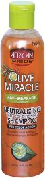 African Pride Olive Miracle Neutralizing Deep Conditioning Shampoo 8 oz