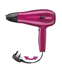 BaByliss Cord Keeper 2000 W Hair Dryer- Pink