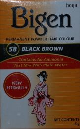 Bigen Permanent Powder Hair Color Black Brown