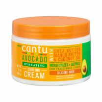 Cantu Avocado Hydrating Curling Cream With Shea Butter Mango Butter & Coconut Oil (Silicon Free) 12oz