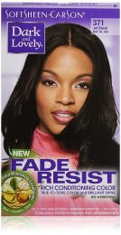 Dark and Lovely Permanent Hair Color Jet Black 371