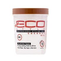 Eco Style Professional Hair Styling Gel Coconut Oil 32OZ Maximum Hold