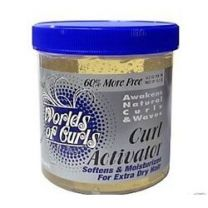 World Of Curls Gel Curl Activator Jar For Extra Dry Hair 32oz