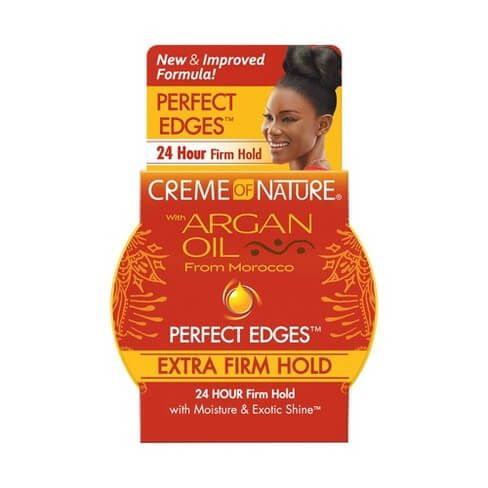 Creme Of Nature Argan Oil Perfect Edges Extra Firm Hold Jar 2.25oz