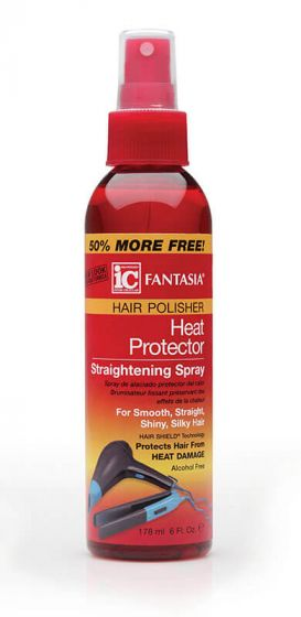Fantasia IC Hair Polisher Heat Protector Straightening Spray 6oz