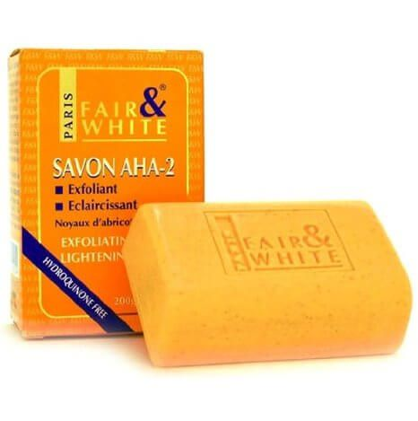Fair and White Savon Exfoliating and Lightening Yellow Soap 200g AHA2