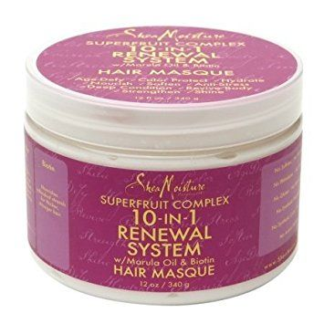 Shea Moisture SuperFruit Complex 10-IN-1Renewal System Hair Masque 12oz