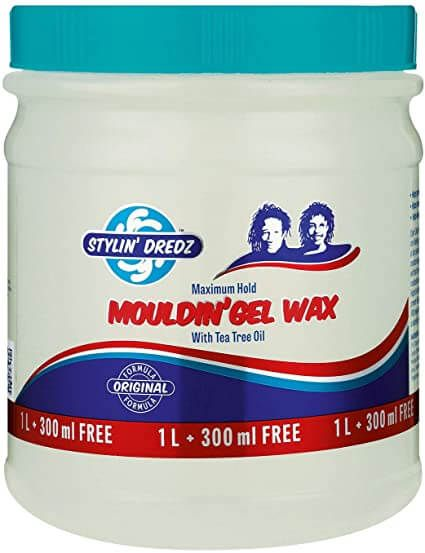 Stylin' Dredz Moulding Gel Wax With Tea Tree Oil For Maximum Hold 1L