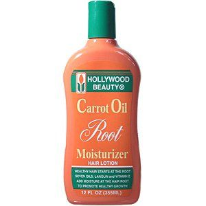Hollywood Beauty Carrot Oil Roots Moisturizer Hair Lotion 12oz
