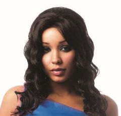 Sleek ALLURE Human Hair Swiss Net Lace Front Wig (Color 1, 1B, 2, 4)