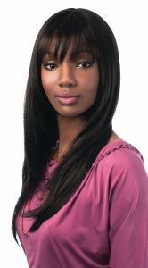 Sleek Beyonce Premium Synthetic Lace Front Natural Black Hair Wig