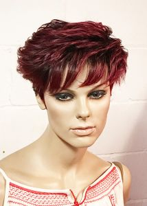 Kali DEBON Synthetic Short Hair Wig - Burgundy