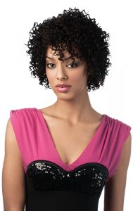 Sleek MACY Premium Synthetic Fibre Curly Short Wigs & Hairpieces