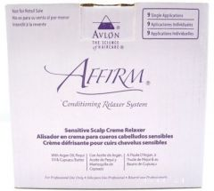 Avlon Affirm Sensitive Scalp Crème Relaxer 9 Single Applications