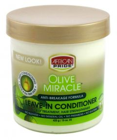 African Pride Olive Miracle Leave in Conditioner Jar 15oz