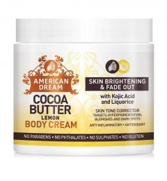 American Dream Cocoa Butter Lemon Brightening Cream Infused with Lemon Oil & Vitamin E