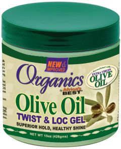 Africas Best Organics Virgin Olive Oil Twist & Loc Gel 15oz