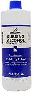 Benjamin 70% Isopropyl Alcohol Astringent Rubbing Lotion 500ml