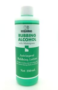 Benjamins Rubbing Alcohol With Wintergreen 250ml