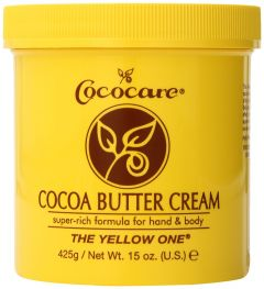 Cococare Cocoa Butter Cream For Hand & Body - Yellow 15oz