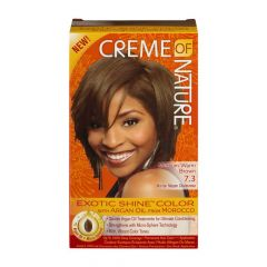 Creme Of Nature Argan Oil Exotic Shine Medium Warm Brown Color 7.3
