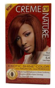 Creme Of Nature Argan Oil Exotic Shine Soft Red Copper Color 6.4