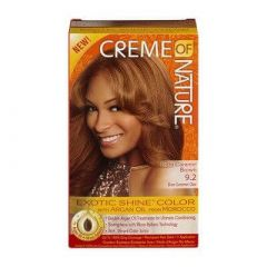 Creme Of Nature Argan Oil Exotic Shine Soft Caramel Brown Color 9.2