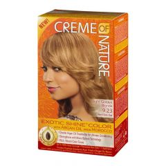 Creme Of Nature Argan Oil Exotic Shine Soft Light Golden Blonde Color 9.23