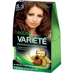 Chantal Color Variété Permanent Hair Colour Cream Dye Chestnut 5.3