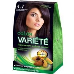Chantal Color Variété Permanent Hair Cream Dye Lovely Aubergine 4.7