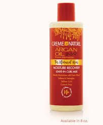 Creme Of Nature Argan Oil  Curly Leave In Hair Milk 8oz