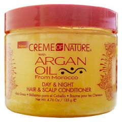 Creme Of Nature Argan Oil Day & Night Hair & Scalp Conditioner Hair Dress 4.76OZ