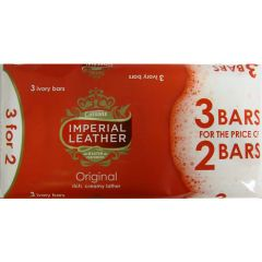 Cussons Imperial Leather Original Soap 3 Ivory Bars