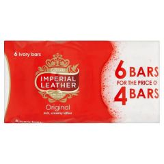 Cussons Imperial Leather Original Soap 6 Ivory Bars