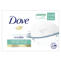 Dove Sensitive Skin Micellar Gentle Cleansers  2X100g Bars