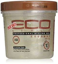 Eco Style Professional Hair Styling Gel Coconut Oil 8OZ Maximum Hold