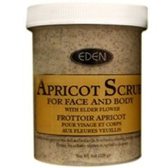 EDEN Apricot Scrub for Face & Body with Elder Flower 8oz