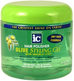 Fantasia IC Hair Polisher Olive Styling Hair Gel 16oz
