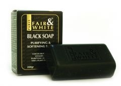 Fair and White Anti-bacterial & Softening Black Soap 200g