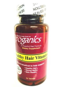 Groganics Daily Healthy Hair Dietary Supplements 30 Tablets