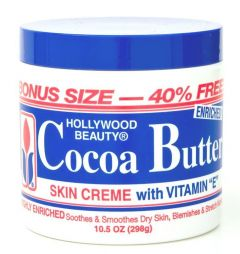 Hollywood Beauty Cocoa Butter Skin Cream Jar 10.5oz