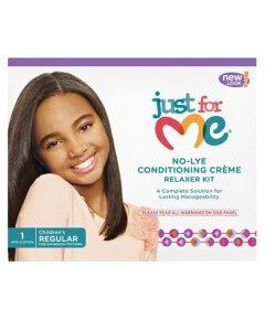 Just For Me No-Lye Conditioning Creme Relaxer Kit REGULAR