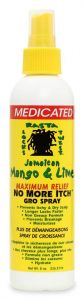 Jamaican Mango & Lime No More Itch Gro Spray Medicated 8 oz