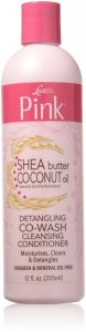 Luster's Pink Shea Butter Coconut Oil Detangling co-wash Cleansing Conditioner