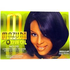 Mazuri Olive Oil No Lye Conditioning Hair Relaxer Kit Strength Regular
