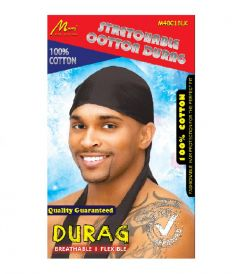 Murry Collection Stretchable Cotton Durag (Black)