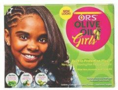 ORS Olive Oil Girls No Lye Conditioning Hair Relaxer System with Aloe Vera, Avocado and Olive Oil