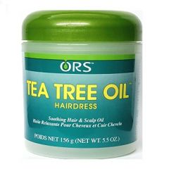 ORS Tea Tree Oil Hairdress Soothing Hair & Scalp Jar 5.5oz