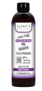 Safah's Natural 100% Pure Virgin Indian Grapeseed Oil Cold Pressed 8.5oz